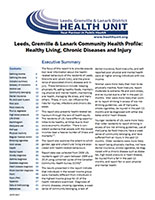Leeds, Grenville and Lanark Community Health Profile: Healthy Living, Chronic Diseases and Injury Cover
