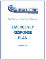 Emergency Response Plan Cover