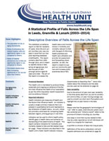 A Statistical Profile of Falls Across the Life Span in Leeds, Grenville and Lanark (2003—2014) Report Cover