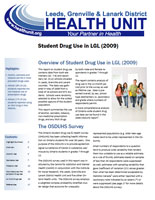 Drug Use Among Leeds, Grenville and Lanark District Students Surveillance Report Cover