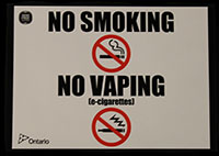 No Smoking/No Vaping - 20 cm x 15 cm