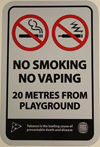 Smoke-Free Signage - No Smoking/No Vaping Playground Signage