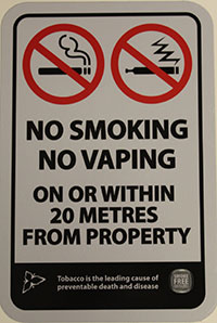 Smoke-Free Signage - No Smoking / No Vaping School Signage