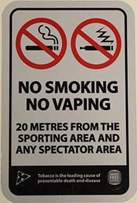 Smoke-Free Signage - No Smoking/No Vaping Sporting Area Signage