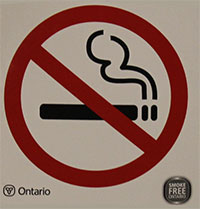 No Smoking Graphic - 10 cm x 10 cm